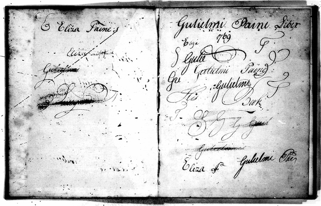 Opening pages of notebook showing authors' signatures.